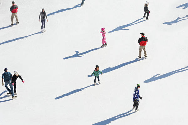 Photograph - Aerial View Of Ice Skating by Shankar Adiseshan