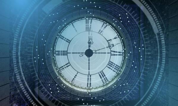 Wall Art - Digital Art - Antique Backlit Clock by Allan Swart