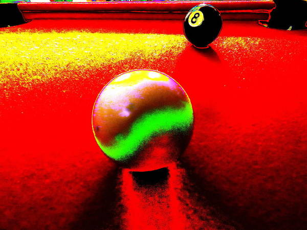 Pool Mixed Media - 8-ball, Corner Pocket by Richard Foster