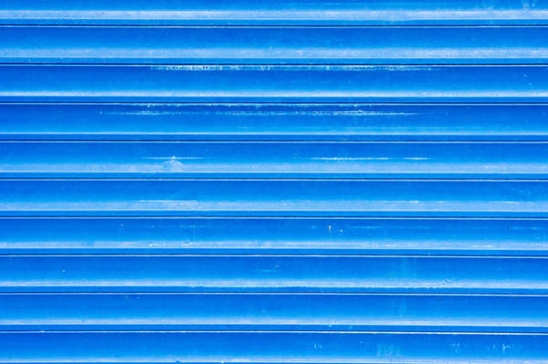 Ancient Architecture Photograph - Blue Metal by Tom Gowanlock