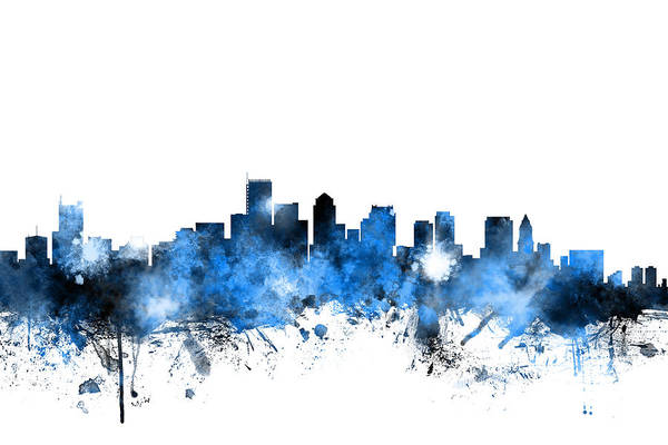 Boston Skyline Wall Art - Digital Art - Boston Massachusetts Skyline by Michael Tompsett