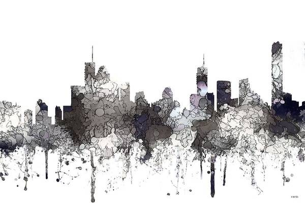 Queensland Digital Art - Brisbane  Australia Skyline by Marlene Watson