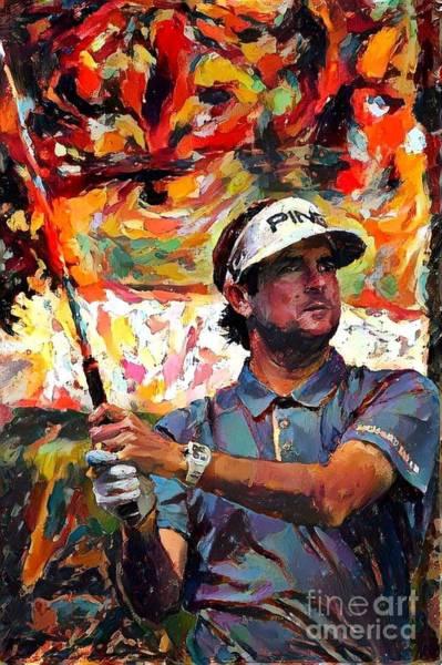 Augusta Masters Painting - Bubba Watson by Douglas Sacha