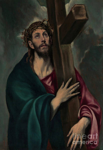 Burden Wall Art - Painting - Christ Carrying The Cross by El Greco