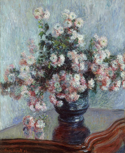 Painting - Chrysanthemums by Claude Monet