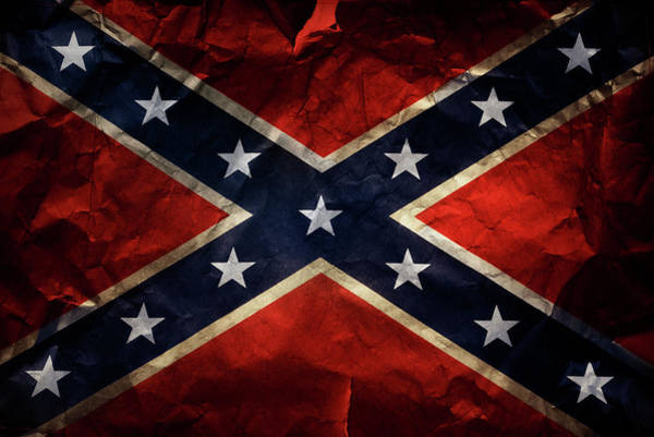 Wall Art - Photograph - Confederate Flag 9 by Les Cunliffe