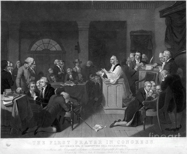 Drawing - Continental Congress, 1774 by Granger