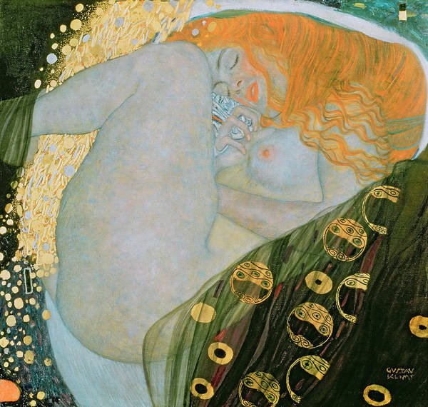 Wall Art - Painting - Danae by Gustav Klimt