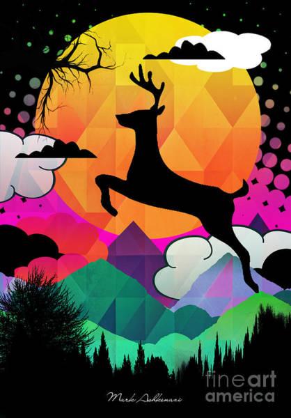 Wall Art - Digital Art - Deer by Mark Ashkenazi