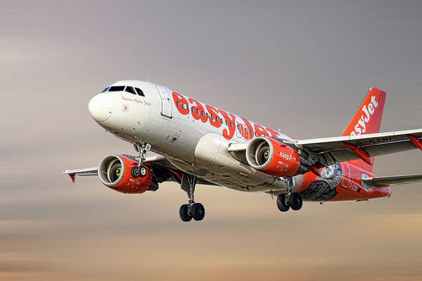 Wall Art - Mixed Media - Easyjet Airbus A319-111 by Smart Aviation