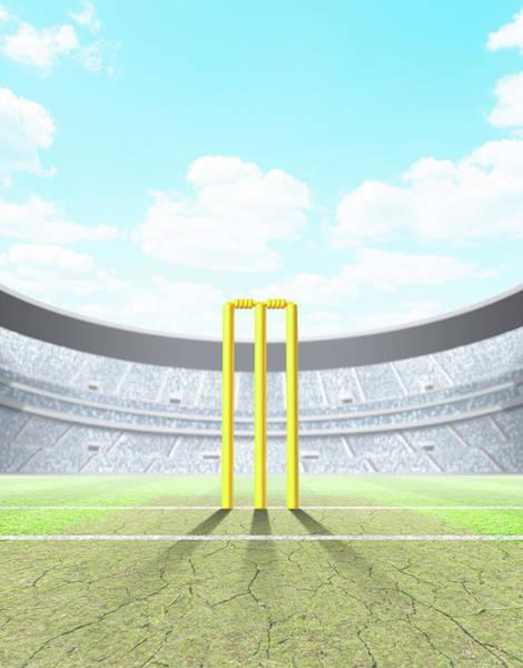 Pitch Digital Art - Floodlit Stadium Day by Allan Swart