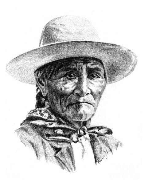 Drawing - Geronimo by Toon De Zwart