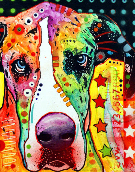 Canine Painting - Great Dane by Dean Russo Art