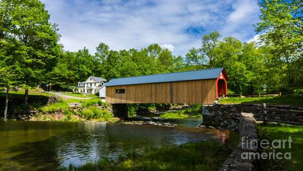 Photograph - Green River Covered Bridge. by New England Photography