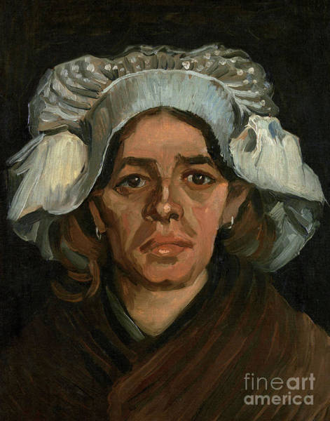 Wall Art - Painting - Head Of A Woman by Vincent Van Gogh