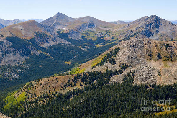 Photograph - Autumn Tundra Turning To Gold  On Mount Yale Colorado by Steve Krull