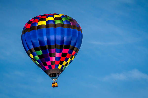 Photograph - Crystal Blue - Hot Air Balloon by Ron Pate