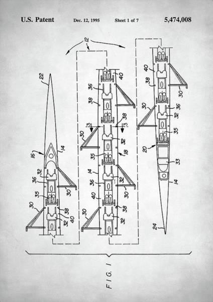 Oar Digital Art - 8 Man Rowing Shell Patent by Zapista Zapista