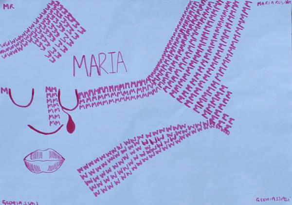 Painting - Maria Regina by Gloria Ssali