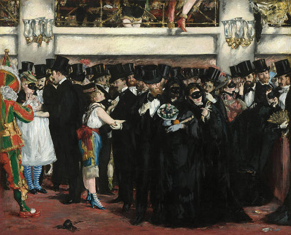 Painting - Masked Ball At The Opera by Edouard Manet
