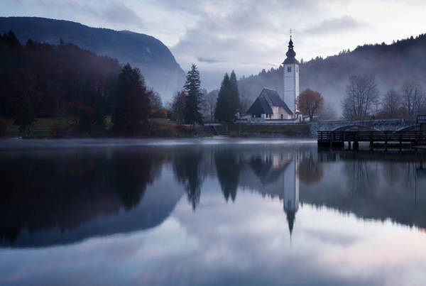 Wall Art - Photograph - Morning At Lake Bohinj In Slovenia by Ian Middleton