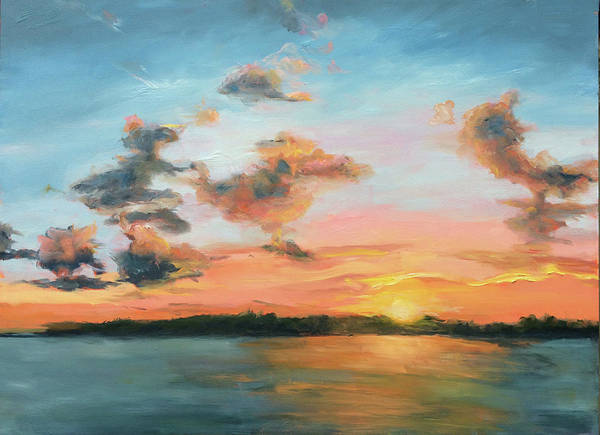 Painting - Wilmington Sunset by Bart Levy