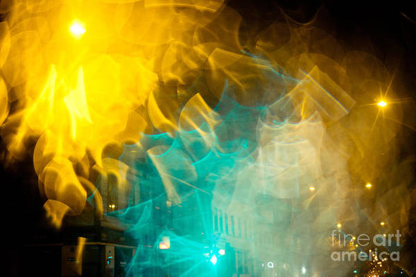 Photograph - Night Lights On A City Abstract by Raimond Klavins