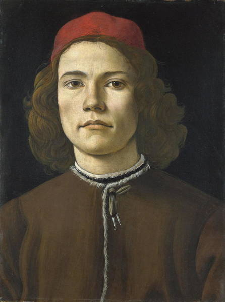 Botticelli Wall Art - Painting - Portrait Of A Young Man by Sandro Botticelli
