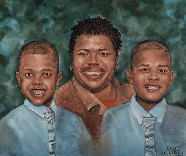 Painting - Happy Family Of Three by Gary M Long