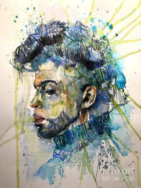 Pianist Painting - Prince Rogers Nelson Portrait by Suzann's Art