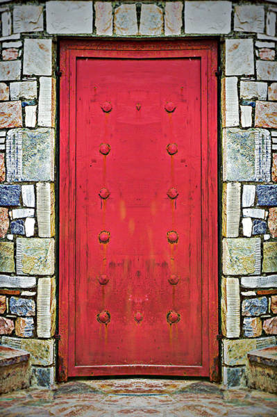 Village Gate Photograph - Red Door  by Tom Gowanlock