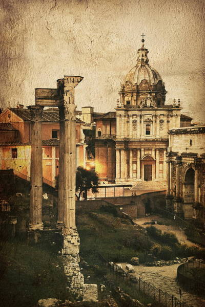 Photograph - Rome Forum by Songquan Deng