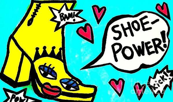 Painting - Shoe Power by Sandra Silberzweig