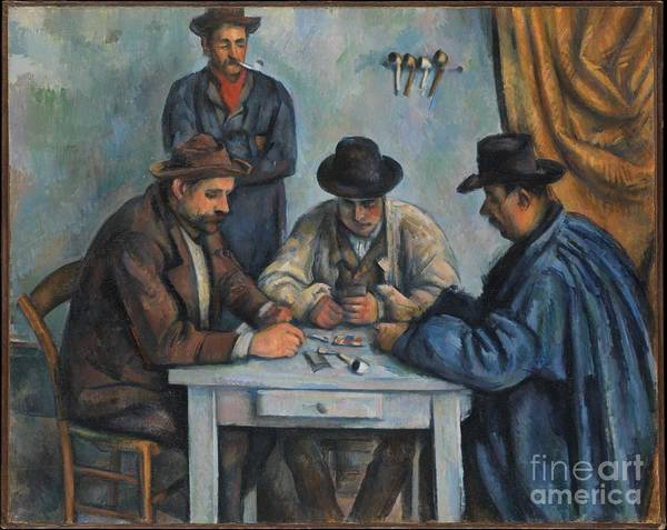Painting - The Card Players by Paul Cezanne