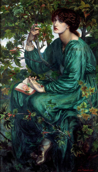 Dryad Wall Art - Painting - The Day Dream by Dante Gabriel Rossetti