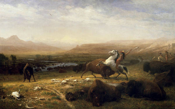 Last Painting - The Last Of The Buffalo by Albert Bierstadt