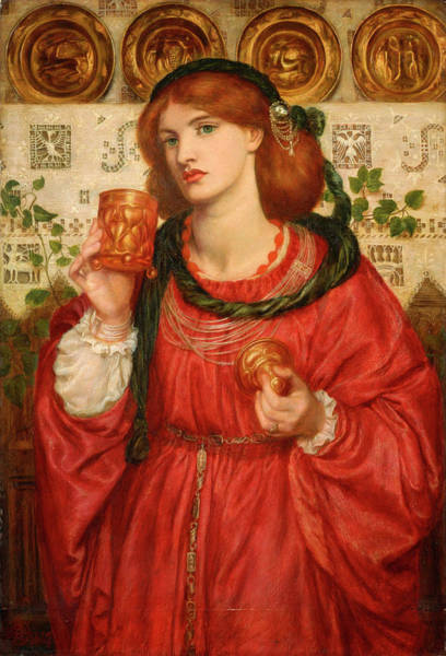 Wall Art - Painting - The Loving Cup by Dante Gabriel Rossetti