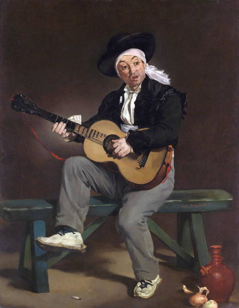 Spanish Guitar Wall Art - Painting - The Spanish Singer by Edouard Manet