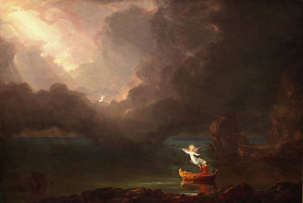 Trial Painting - The Voyage Of Life, Old Age by Thomas Cole