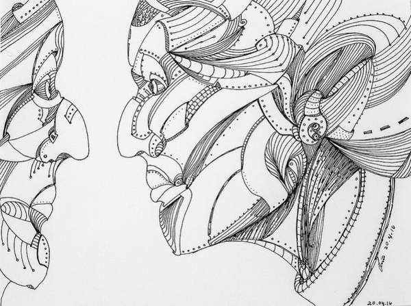 Drawing - Untitled 2016b007 by Lino Vicente