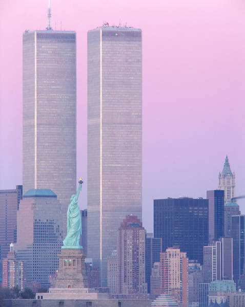Twin Cities Photograph - Usa, New York, Statue Of Liberty by Panoramic Images