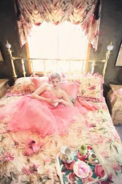 Digital Art - Vintage Val Bedroom Dreams by Jill Wellington