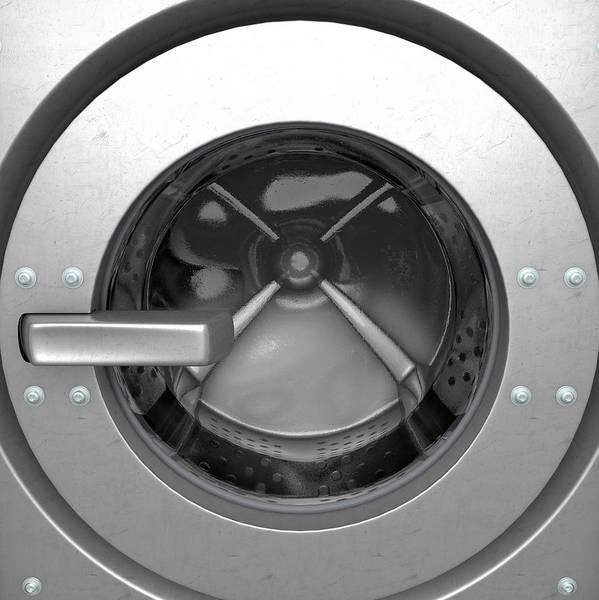 Wall Art - Digital Art - Washing Machine Drum by Allan Swart