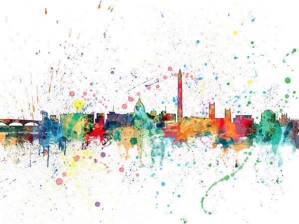 Usa Digital Art - Washington Dc Skyline by Michael Tompsett