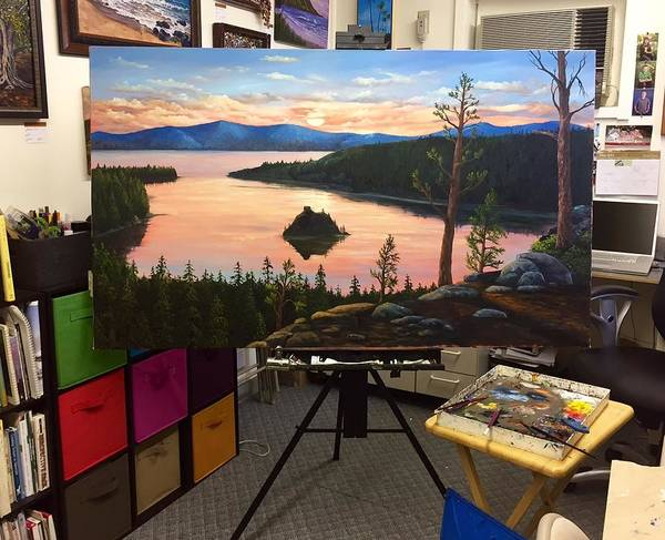 Painting - Wip Emerald Bay by Darice Machel McGuire
