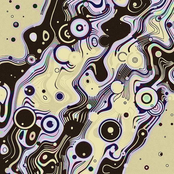 Digital Art - 80s Line Game Neutrals by Joy McKenzie