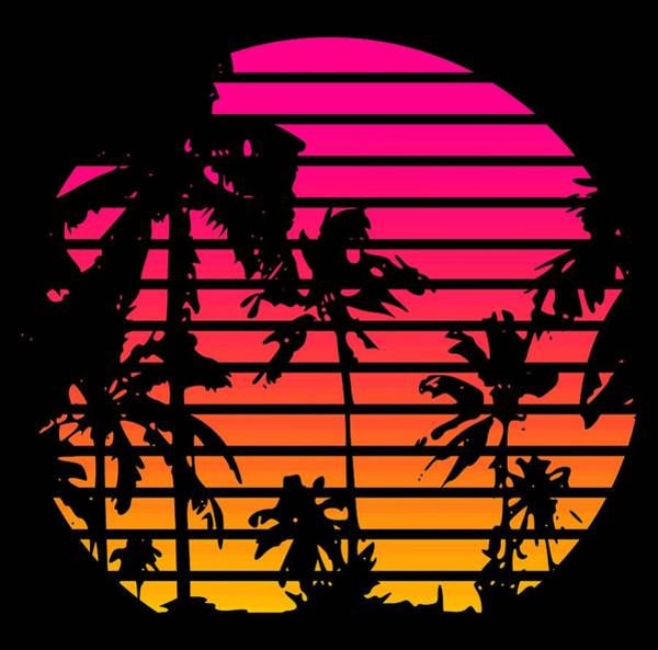 Palm Tree Mixed Media - 80s Tropical Sunset by Filip Hellman