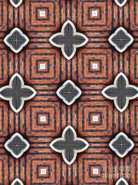 Red Brick Digital Art - Unique Design Pattern by Amy Cicconi