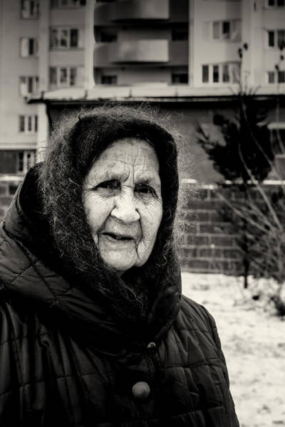 Photograph - 85 Year Old Russian Woman by John Williams