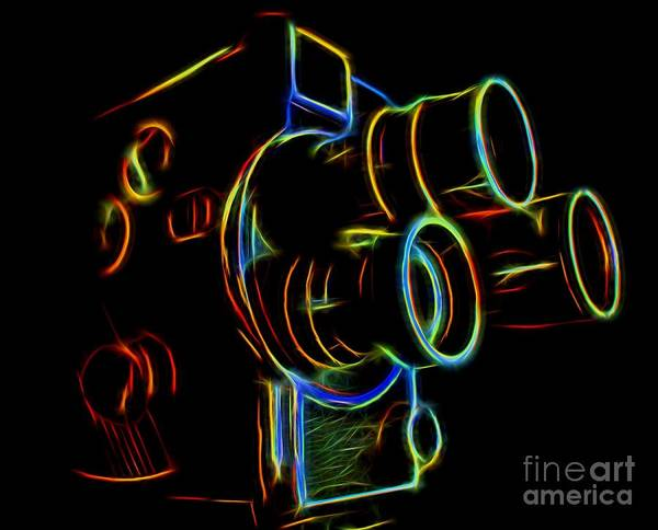 Photograph - 8mm In Neon by Mark Miller